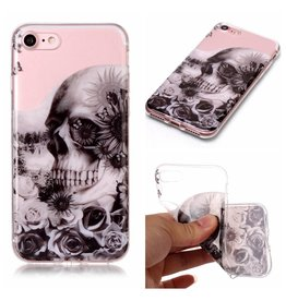 Softcase schedel hoes iPhone 7 / 8
