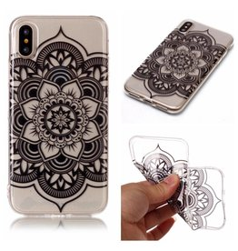 Softcase henna lotus hoes iPhone X