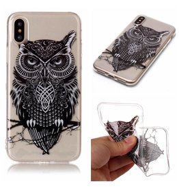 Softcase uil hoes iPhone X / XS