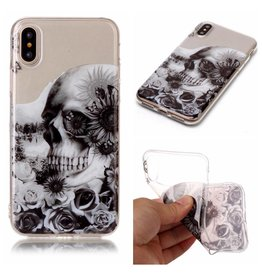 Softcase schedel hoes iPhone X