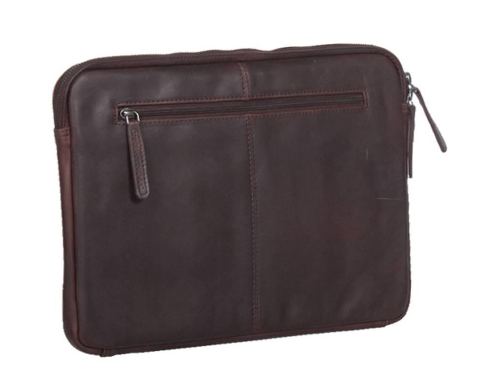 Chesterfield Chesterfield Richard lederen laptop sleeve hoes bruin voor 13 inch laptops