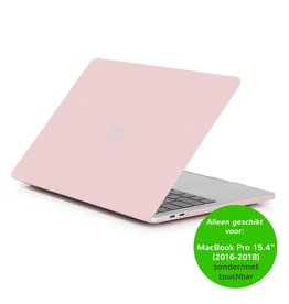 Matte hardcase hoes - MacBook Pro Retina 15 inch (2016-2018) - lichtroze