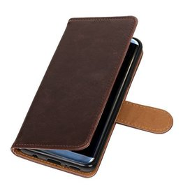 Bookwallet lederlook hoes - Samsung Galaxy S9 - mocca