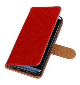 Bookwallet lederlook hoes - Samsung Galaxy S9 - rood