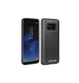Pierre Cardin Pierre Cardin - echt lederen backcover hoes - Samsung Galaxy S8 - zwart