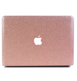 Lunso Lunso - cover hoes - MacBook Air 13 inch - glitter roze