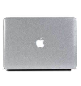 Lunso Lunso - cover hoes - MacBook Air 13 inch - glitter zilver