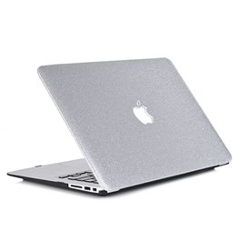 Lunso Lunso - glitter hardcase hoes - MacBook Air 13 inch - zilver
