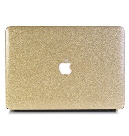 Lunso Lunso - cover hoes - MacBook Air 13 inch - glitter goud