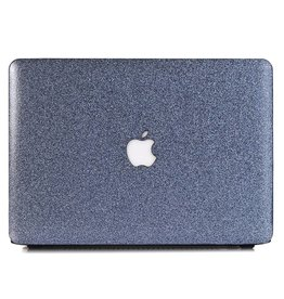 Lunso Lunso - cover hoes - MacBook Air 13 inch - glitter blauw