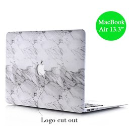 Lunso Lunso - hardcase hoes - MacBook Air 13 inch - marmer wit