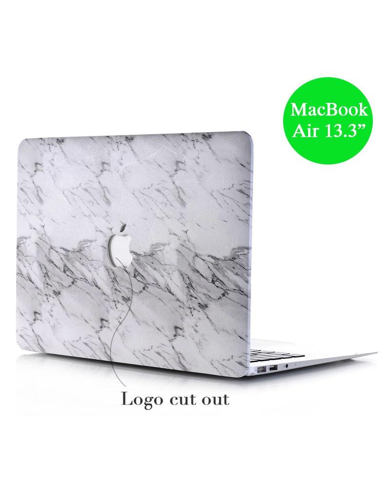 Lunso Lunso marmeren hardcase hoes wit voor de MacBook Air 13 inch