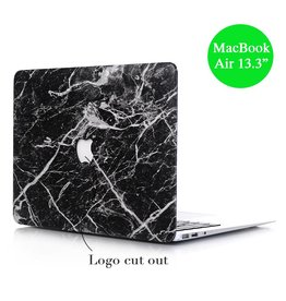 Lunso Lunso - hardcase hoes - MacBook Air 13 inch - marmer zwart/wit