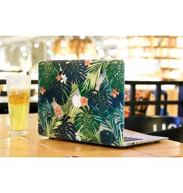 Lunso Lunso - palmboom bladeren hardcase hoes - MacBook Air 13 inch - groen