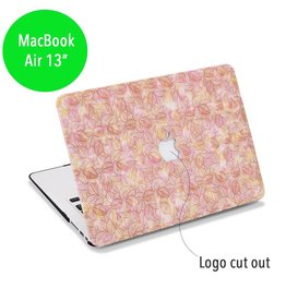 Lunso Lunso - hardcase hoes - MacBook Air 13 inch - blaadjes roze
