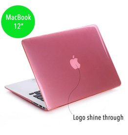 Lunso Lunso - hardcase hoes - MacBook 12 inch - glanzend lichtroze