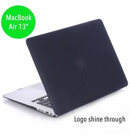 Lunso Lunso - hardcase hoes - MacBook Air 13 inch - mat zwart