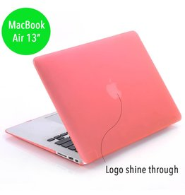 Lunso Lunso - hardcase hoes - MacBook Air 13 inch - mat lichtroze