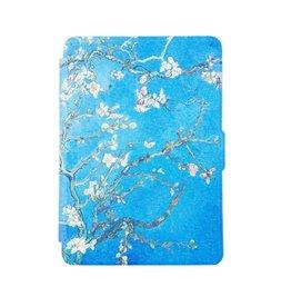 Lunso Lunso - smart magnetische flip hoes - Kindle Paperwhite - Van Gogh amandelboom