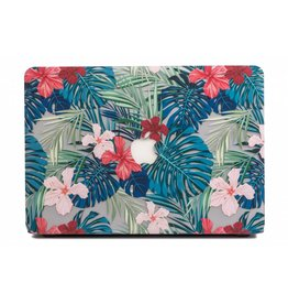 Lunso Lunso - cover hoes - MacBook Air 13 inch - Tropical leaves red