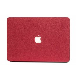 Lunso Lunso - cover hoes - MacBook Air 13 inch - glitter rood