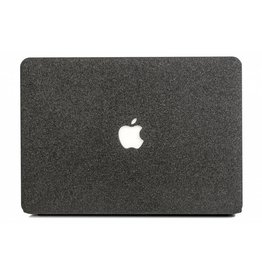 Lunso Lunso - cover hoes - MacBook Air 13 inch - glitter zwart
