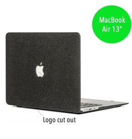Lunso Lunso - glitter hardcase hoes - MacBook Air 13 inch - zwart
