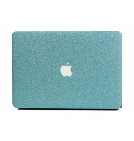 Lunso Lunso - cover hoes - MacBook Air 13 inch - glitter lichtblauw