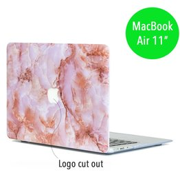 Lunso Lunso - hardcase hoes - MacBook Air 11 inch - marmer roze