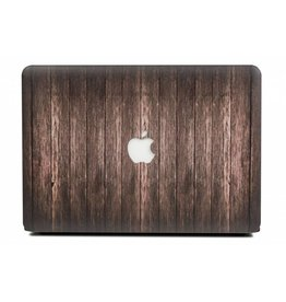 Lunso Lunso - cover hoes - MacBook Air 13 inch - houtlook donkerbruin