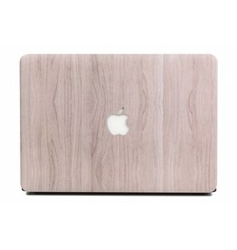 Lunso Lunso - cover hoes - MacBook Air 13 inch - houtlook lichtbruin