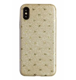Lunso Lunso - ultra dunne backcover hoes - iPhone X - star beige