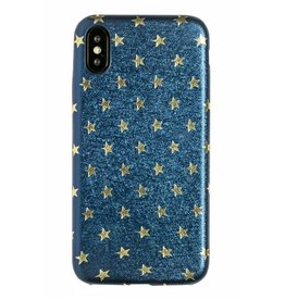Lunso Lunso - ultra dunne backcover hoes - iPhone X - star blauw