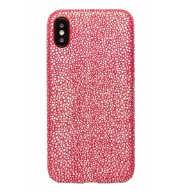 Lunso Lunso - ultra dunne backcover hoes - iPhone X - stingray rood