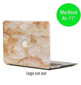 Lunso Lunso - hardcase hoes - MacBook Air 11 inch - marmer goud