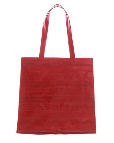 7c889cb7ef6e5 Tote Bag in red made from exclusive eel skin - JUNGMI