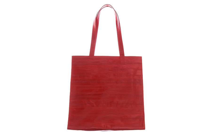 324295fbb49b Tote Bag in red made from exclusive eel skin - JUNGMI