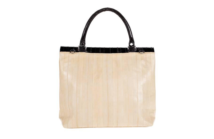 Mimi Messenger Bag Creme/Schwarz