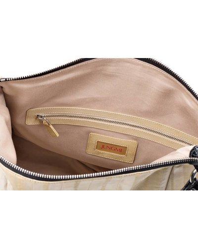 Cleopatra Handtasche Creme/Schwarz