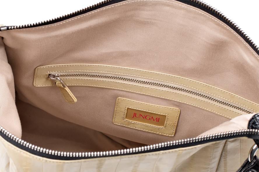 Cleopatra handbag creme/black