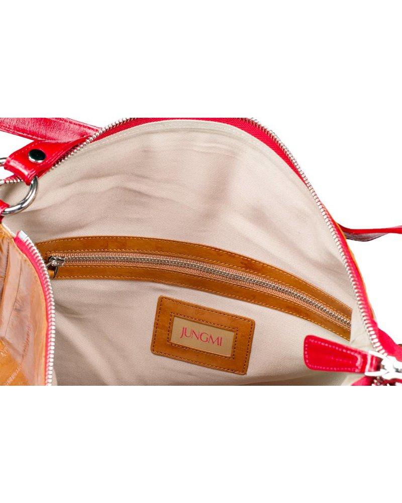 Cleopatra Handbag Caramel / Rot