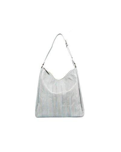 Cleopatra Handtasche hellblau mit silbernem Reissverschluss