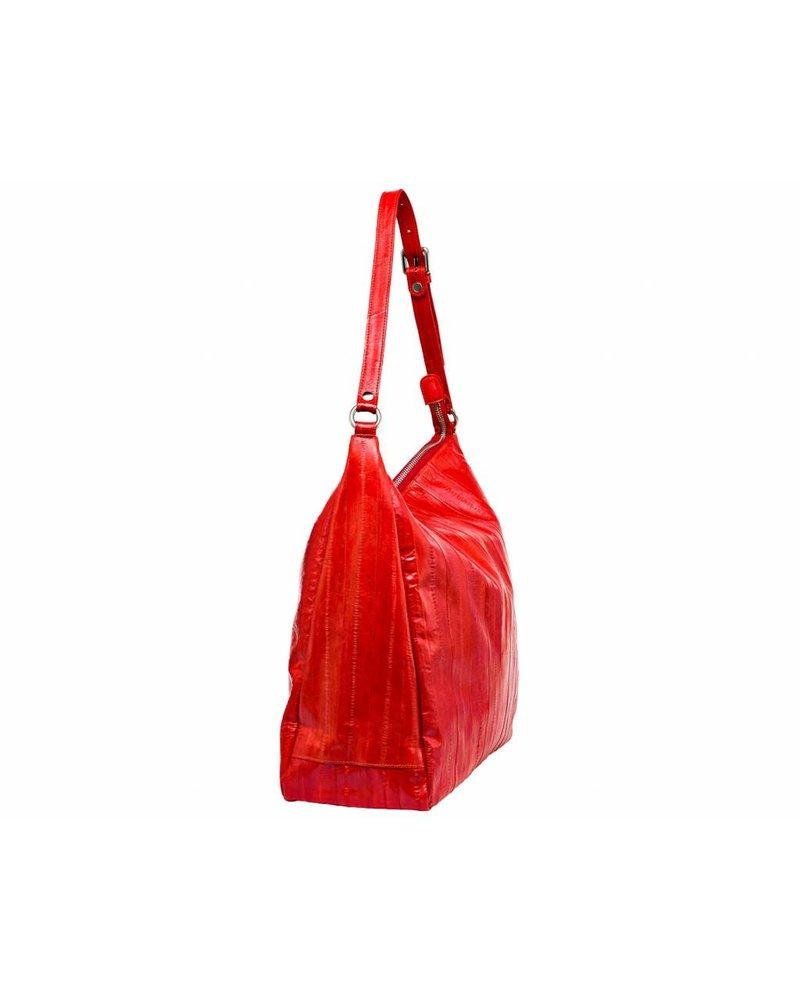 Cleopatra handbag coral red