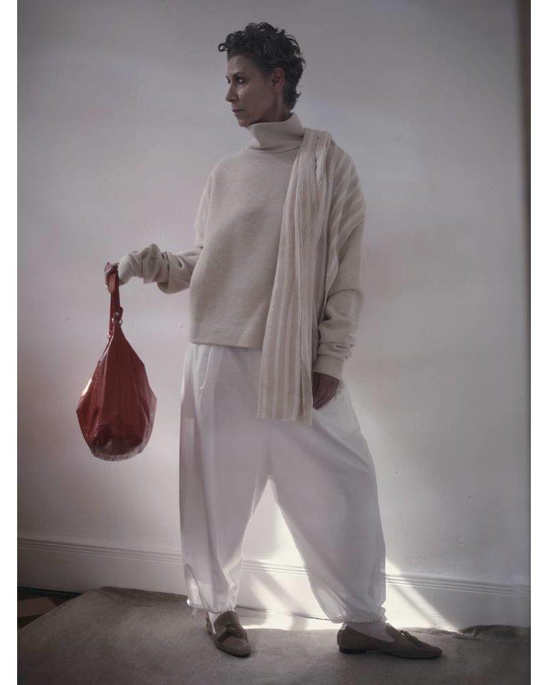Cleopatra Handtasche corallrot mit silbernem Reissverschluss