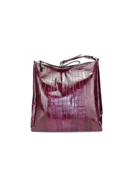 Cleopatra Bordeaux silver zipper