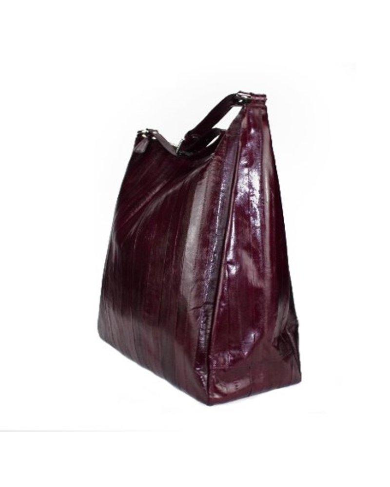 Cleopatra Handtasche bordeuax mit silbernem Reissverschluss