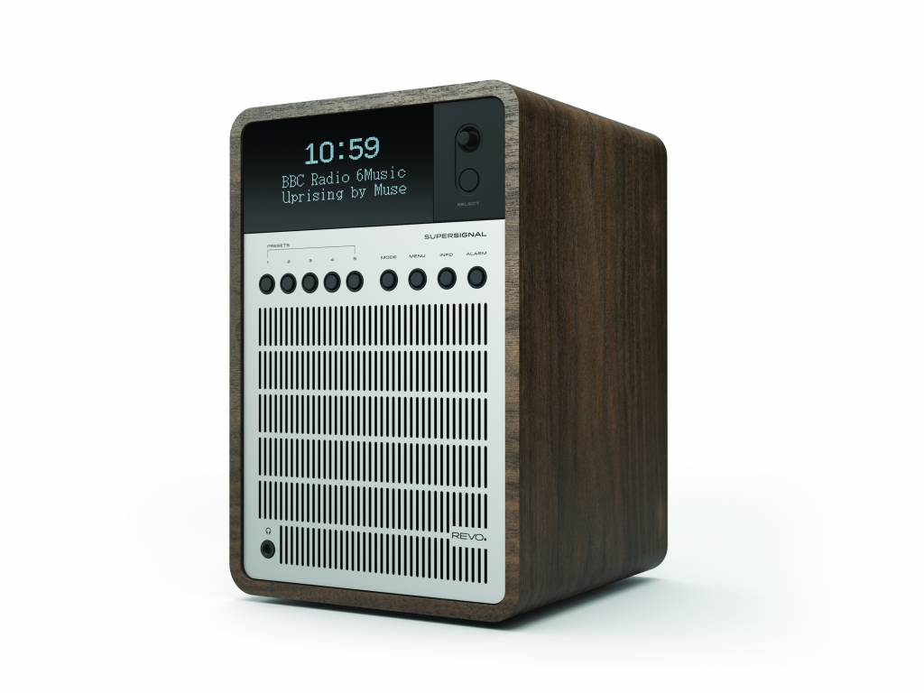 Revo SuperSignal - DAB+ Radio - Walnoot/Zilver