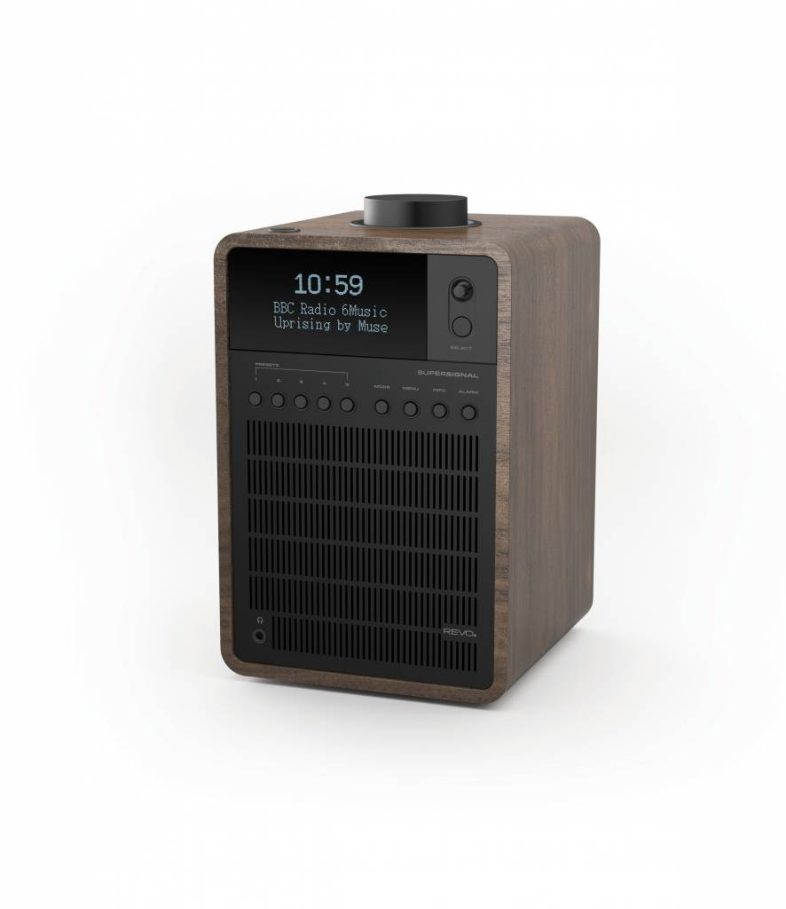 Revo SuperSignal - DAB+ Radio - Walnoot/Zwart