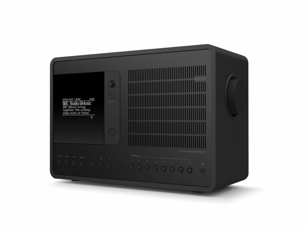Revo Audio SuperConnect - DAB+ - internet radio en Spotify - Zwart/Zwart