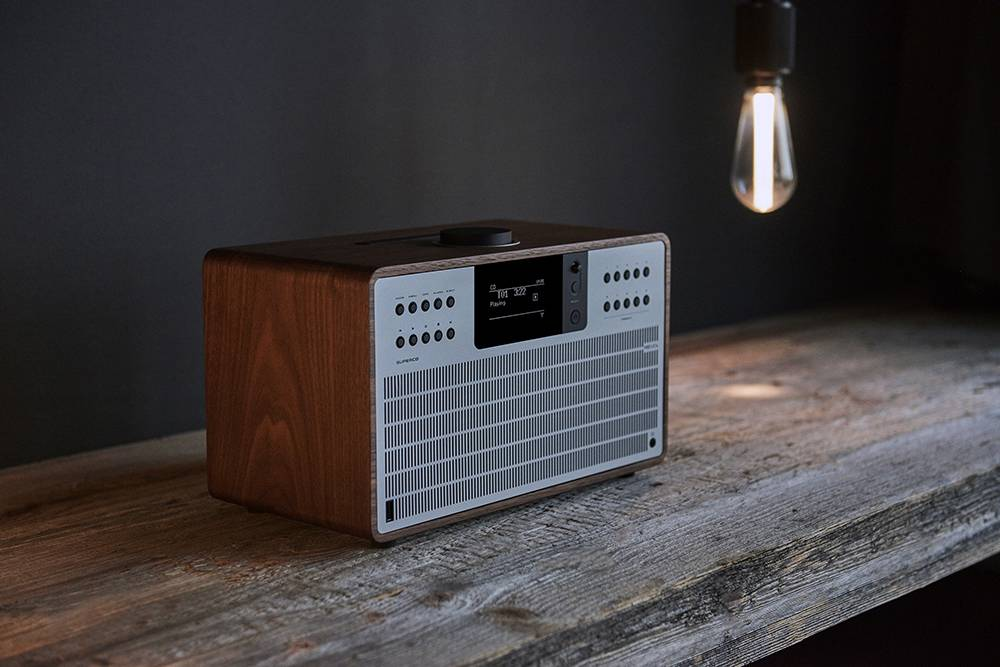 Revo SuperCD - Walnoot/Zilver | CD-speler - Dab Radio - Internetradio - USB -  Bluetooth AptX